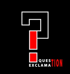 Question and exclamation vector image vector image