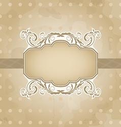 Grunge vintage floral vector image