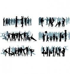 huge crowd vector image