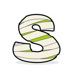 Letter S Egyptian zombies Mummy ABC icon coiled vector image
