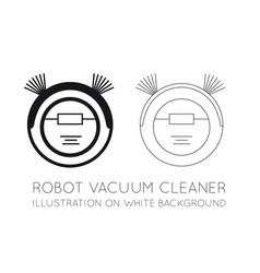 robot vacuum cleaner on a white background vector image vector image
