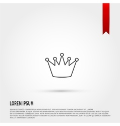 Black crown icon Flat design style vector image vector image