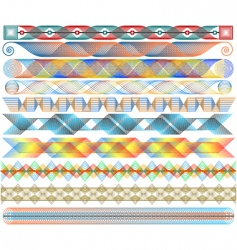colorful strips vector image vector image