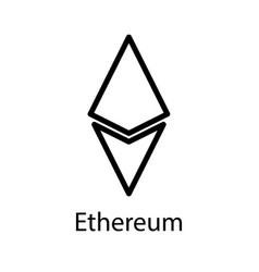 ethereum icon for internet money crypto currency vector image vector image