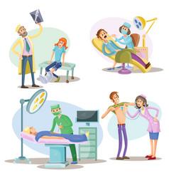 medical examination and treatment vector image vector image