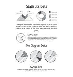 statistics data pie diagram vector image vector image