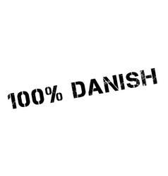 100 percent danish rubber stamp vector