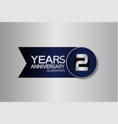 2 years anniversary logo style with circle vector