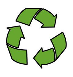 arrows recycle ecology symbol vector image
