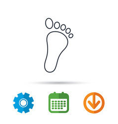 Baby footprint icon child foot sign vector