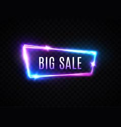big sale neon sign on transparent background vector image