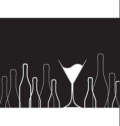 Black background bottles vector