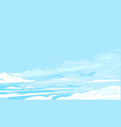 blue cloudy sky background vector image