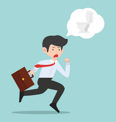 businessman go to toilet vector image