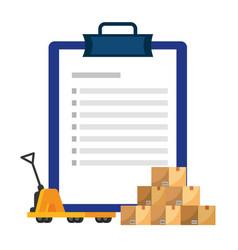 Checklist over pushcart vector