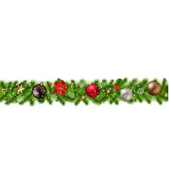 Christmas border isolated vector