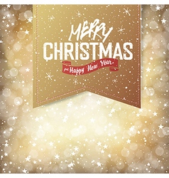 christmas golden card vector image