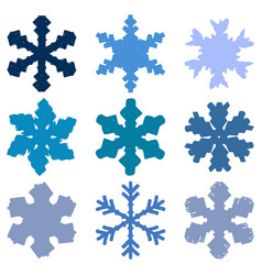 chunky marker snowflakes set vector image
