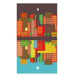 Cityscape day and night vector