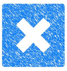 Close grunge icon vector
