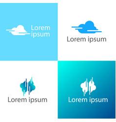 cloud creative logo template icon elements vector image