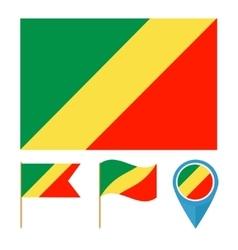 Congocountry flag vector image