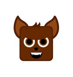 Cute halloween werewolf cartoon character vector