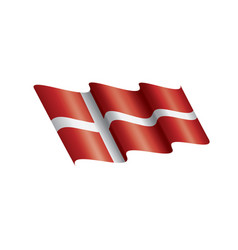 denmark flag on a white vector image