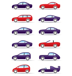 Different types of modern cars vector