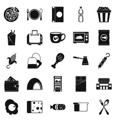 dining icons set simple style vector image