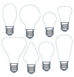 Electric light bulb set vector