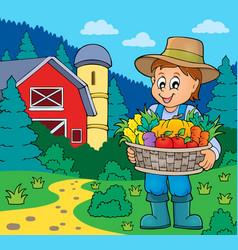 farmer topic image 7 vector image