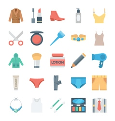Fashion and Clothes Icons 2 vector image