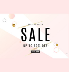 fashion sale banner design background with gold vector image