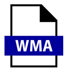 file name extension wma type vector image