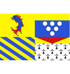 Flag of drome in auvergne-rhone-alpes region in vector