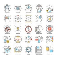Flat Color Line Icons 21 vector