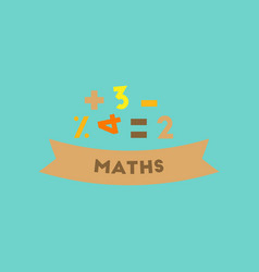 Flat icon on background math lesson vector