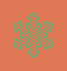Flat on background of snowflake vector