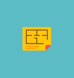 Floor plan icon flat element vector