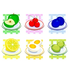 Food on a plate vector