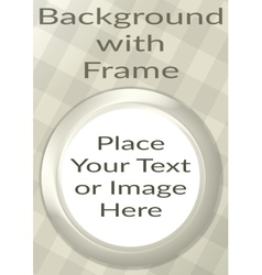 Frame Porthole on White Background vector