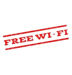 Free wi-fi watermark stamp vector
