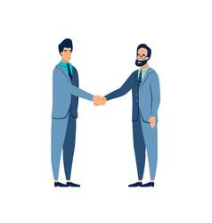 gesture agreement handshake the contract is vector image