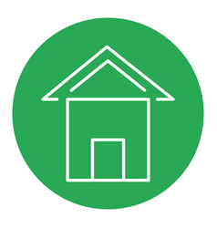 Green house isolated icon vector