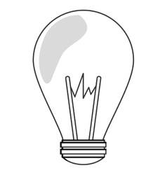 green regular lightbulb icon vector image