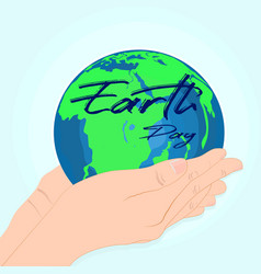 Happy earth day environmental safety conserve vector