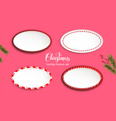 holiday frames set vector image