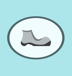 Icon in flat design fashion footwear shoe vector