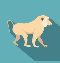 Japanese macaque icon flat style vector